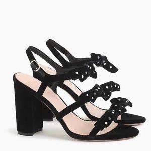 BNIB J. Crew || Bow Heels in Embellished Velvet